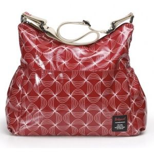 "NWOT Babymel ""Big Red Twisted Slouchy"" babybag"